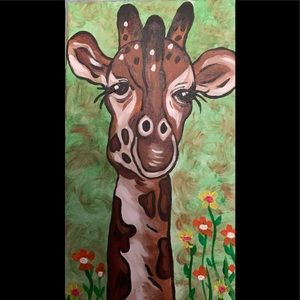 Original painting signed by the artist giraffe